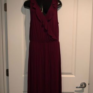 NWT Maxi Dress Apt 9 Ruffle Trim Medium